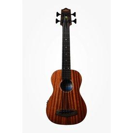 Kala Kala All Solid Acoustic/Electric UBASS-SMHG-FL U-Bass Fretless W/Case, Satin/All Solid Mahogany