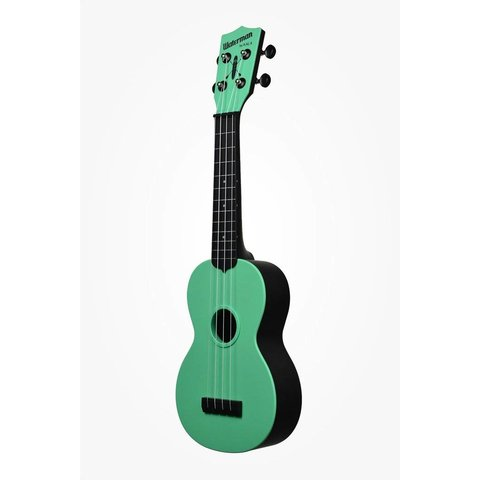 Kala KA-SWB-GN Waterman Composite Soprano Ukulele, Matte Sea Foam Green