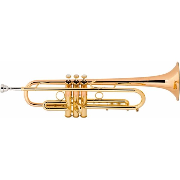 """Bach Bach LT190L1B Stradivarius Commercial Profess Bb Trumpet .462"""" Bore Lacquer"""