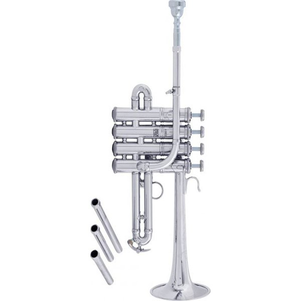 Bach Bach AP190 Stradivarius Artisan Professional A/Bb Piccolo Trumpet, Silver Plated