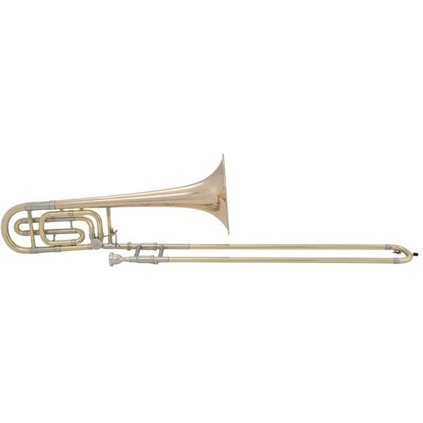 Bach Bach 50B Stradivarius Professional Bb/F Bass Trombone, Gold Brass Bell