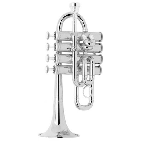 Bach 196S Stradivarius Professional A/Bb Piccolo Trumpet, Silver Plated