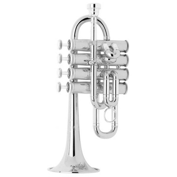 Bach Bach 196S Stradivarius Professional A/Bb Piccolo Trumpet, Silver Plated