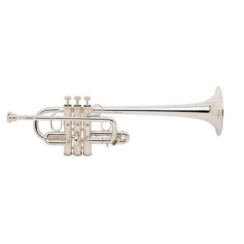 """Bach 189XL Stradivarius Profess Eb Soprano Trumpet, .462"""" Bore, Clear Lacquer"""