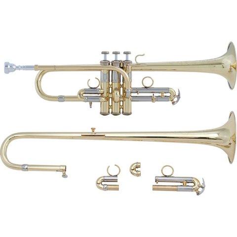 Bach ADE190 Stradivarius Artisan Profess Combination D/Eb Trumpet, Lacquer
