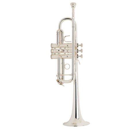 Bach C180SL229W30 Stradivarius Professional C Trumpet, Silver Plated