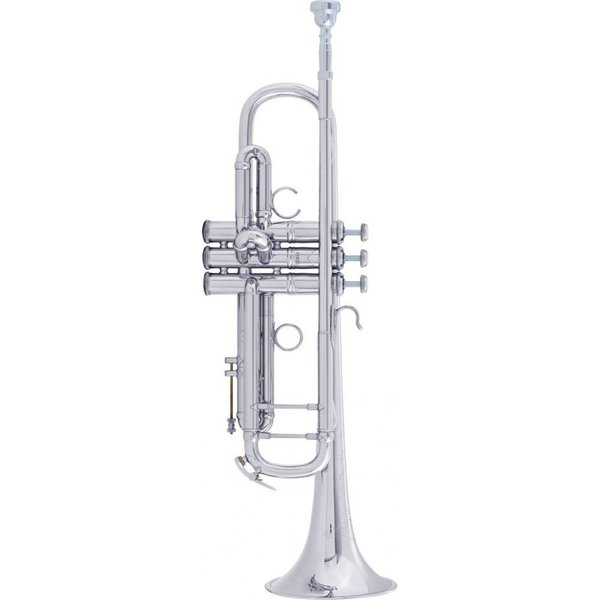 Bach Bach AB190S Stradivarius Artisan Professional Bb Trumpet, Silver Plated Finish