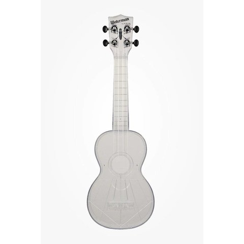 Kala KA-SWT Waterman Composite Soprano Ukulele, Clear Gloss