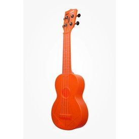 Kala Kala KA-SWF-OR Waterman Composite Soprano Ukulele, Fluorescent Orange