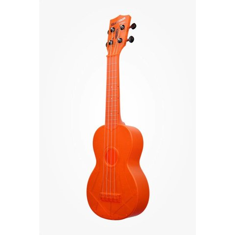 Kala KA-SWF-OR Waterman Composite Soprano Ukulele, Fluorescent Orange