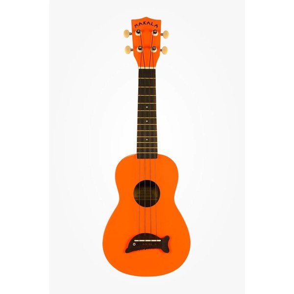 Makala Makala Dolphin MK-SD/SOLID Dolphin Bridge Soprano Ukulele, Gloss - Orange