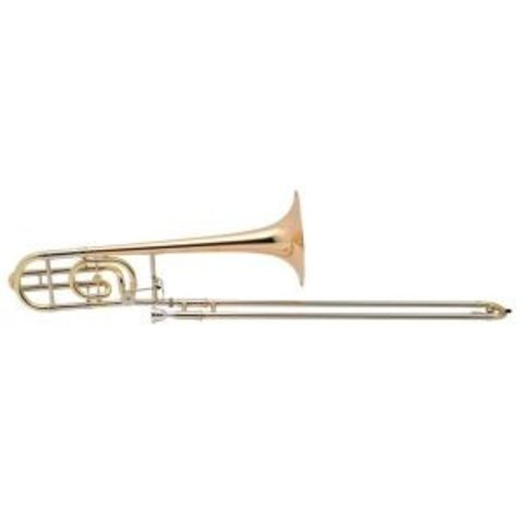 "Holton TR158 Professional Tenor Trombone, F Rotor, 9"" Silver Plated Finish"