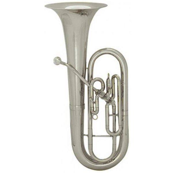 King King 627SP Diplomat Series Student Baritone, Upright Bell, Silver Plated