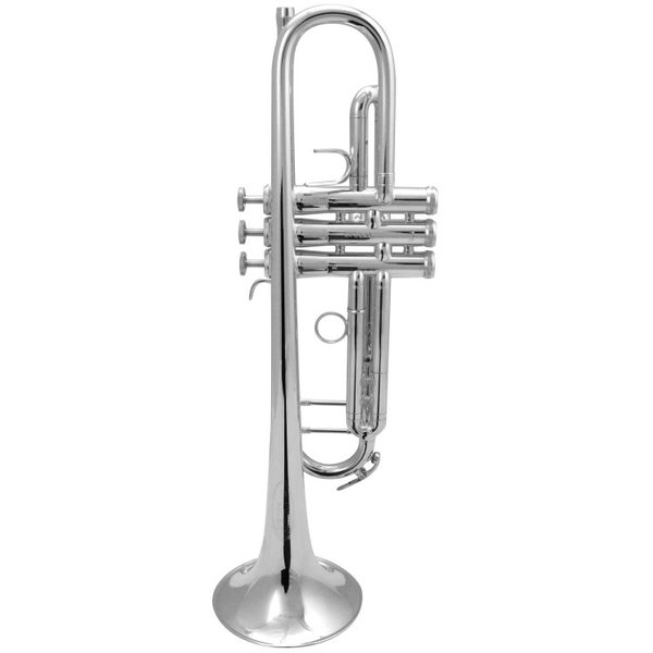 King King K10 Bb Marching Trumpet, Standard Finish