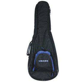 Kala Kala DUB-UBASS-SB Deluxe Padded Backpack Black Logo Bag/Fits Solid Body U-Bass