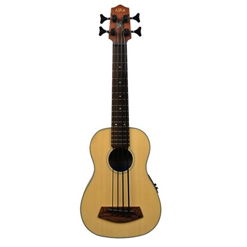 Kala Solid Top Acoustic/Electric UBASS-SSMHG-FS/LH U-Bass Fretted W/Bag Left Handed, Satin/Solid Spruce Top/Mahogany