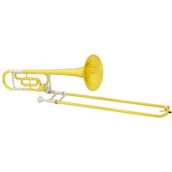 King King 607F Legend Series Performance Tenor Trombone w F Attach, Yellow Brass Bell