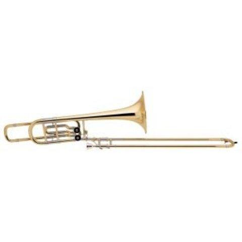 "Bach 50B2LO Stradivarius Pro Bb/F/Eb Bass Trombone, 10.5"" Bell Open Wrap"