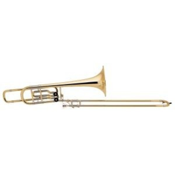 "Bach Bach 50B2LO Stradivarius Pro Bb/F/Eb Bass Trombone, 10.5"" Bell Open Wrap"