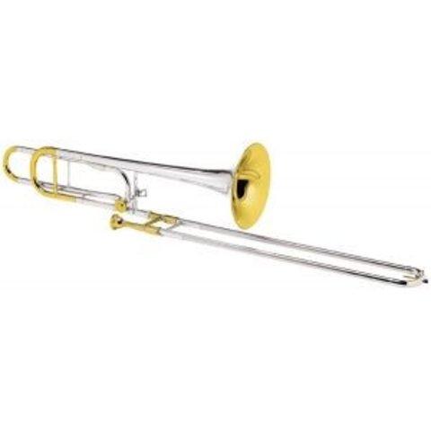 Conn 88HOSGX Symphony Pro Tenor Trombone Slvr Pltd Gld Trm Sterling Silver Bell