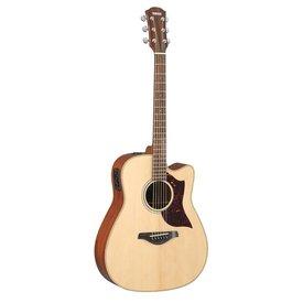 Yamaha Yamaha A1M Folk Cutaway Acoustic Electric Guitar Mahogany