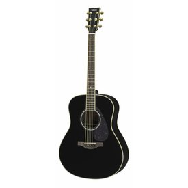 Yamaha Yamaha LL6 BL ARE L Series Rosewood Folk Acoustic, Black w/ Passive Pickup