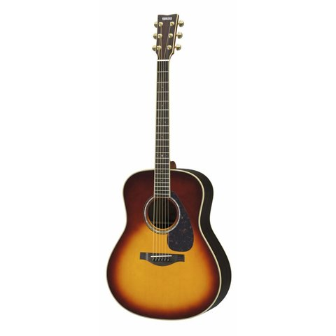 Yamaha LL6 BS ARE L Series Rosewood Folk Acoust Brown Sunburst w/ Passive Pickup