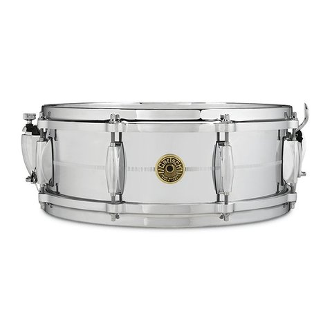 "Gretsch G4160 Chrome / Brass 5"" x 14"" 8 Lug Snare Drum"
