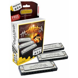 Hohner Hohner 572 Hot Metal Value Pack A, C, G 3P572BX