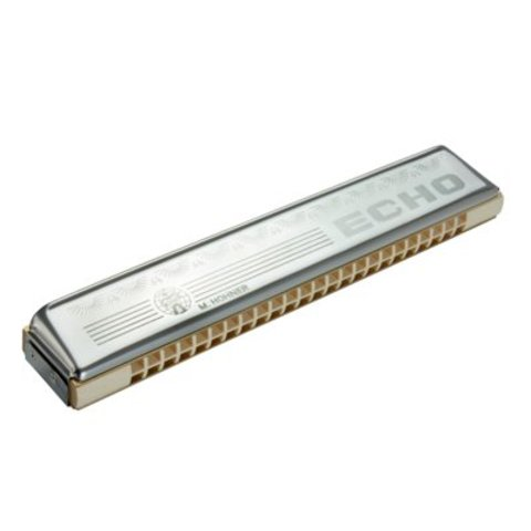 Hohner 1496-C Echo 48 Octave Harmonica (24 Hole Tremolo); Key of C