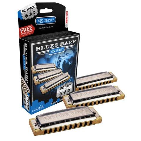 Hohner 3P532BX Blues Harp 3 Pack Keys of C, G, A