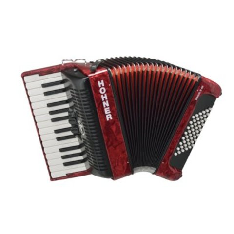 Hohner BR48B-N Bravo II Accordion 48 Pearl Red