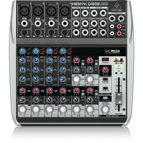 Behringer Q1202USB 12-Input 2-Bus Mixer, XENYX/EQ