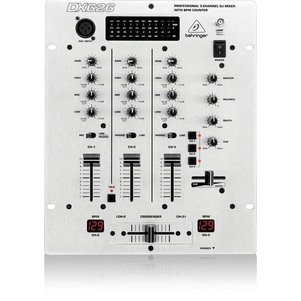 Behringer Behringer DX626 3-Channel DJ Mixer, BPM