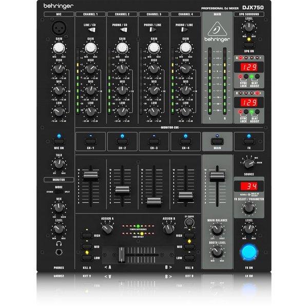 Behringer Behringer DJX750 5-Channel DJ Mixer, ADE/BPM