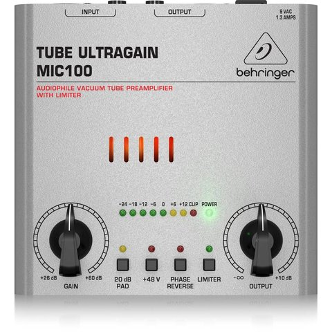 Behringer MIC100 Vacuum Tube Preamp - Limiter