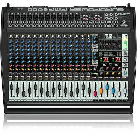 Behringer PMP6000 1600W 20-Channel Mixer, M-FX