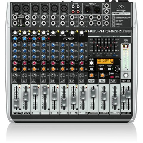 Behringer QX1222USB 16-Input 2/2-Bus Mixer, XENYX