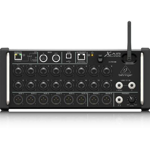 Behringer XR18 18-Channel 12-Bus Mixer, iPad