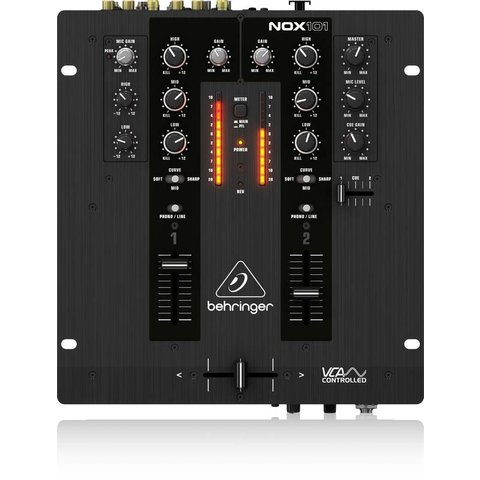 Behringer NOX101 2-Channel DJ Mixer, VCA