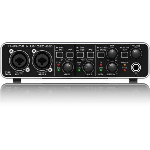 Behringer UMC204HD 2x4 24-B/192 kHz USB Interface
