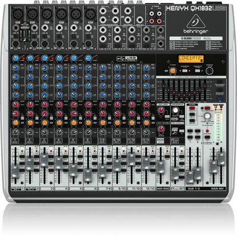 Behringer QX1832USB 18-Input 3/2-Bus Mixer, XENYX