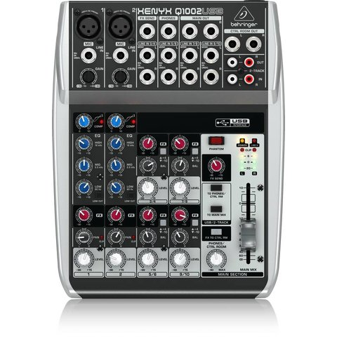 Behringer Q1002USB 10-Input 2-Bus Mixer, XENYX/EQ