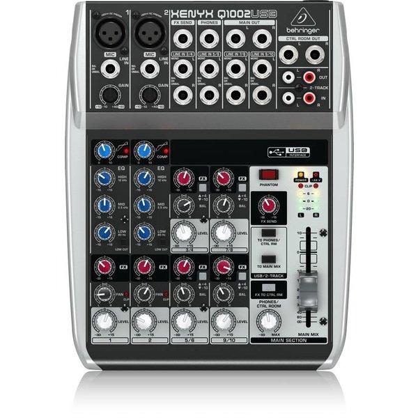 Behringer Behringer Q1002USB 10-Input 2-Bus Mixer, XENYX/EQ