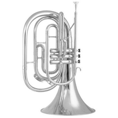 King 1122SP Ultimate Series Bb Marching French Horn, Silver Plated
