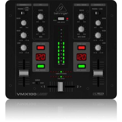 Behringer VMX100USB 2-Channel DJ Mixer, USB