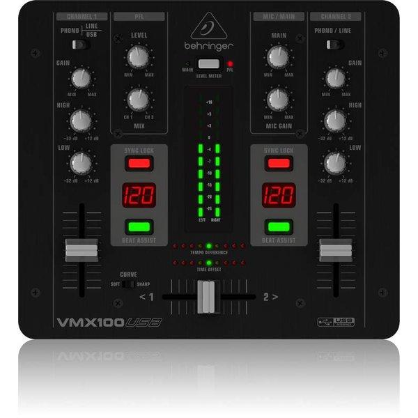 Behringer Behringer VMX100USB 2-Channel DJ Mixer, USB