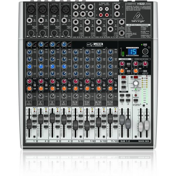 Behringer Behringer X1622USB 16-Input 2/2-Bus Mixer, XENYX