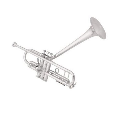 King 2055TUBG Silver Flair Dizzy Model Perf Bb Trumpet, Upturned Gold Brass Bell
