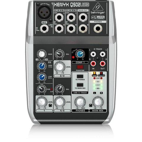 Behringer Q502USB 5-Input 2-Bus Mixer, XENYX/EQ